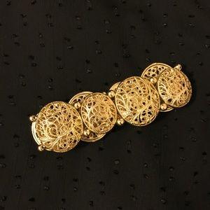 Jewelry - Goldtone filigree stretch bracelet